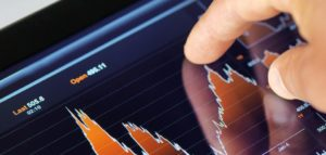 Stock Market Trends On A Tablet